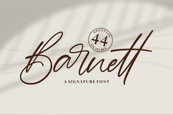 Barnett | New Signature Font