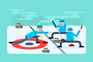 Curling winter game