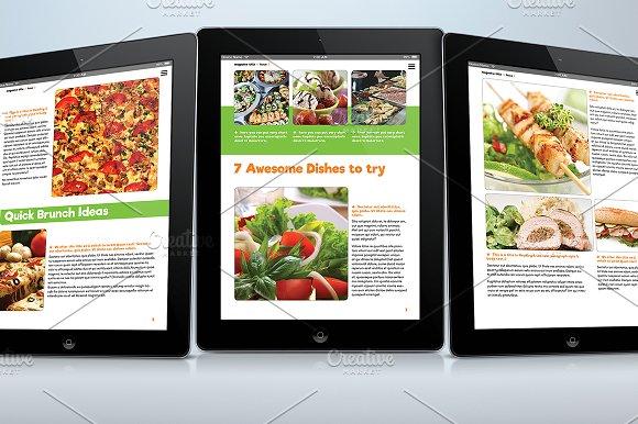 food e magazine for tablets templates creative market