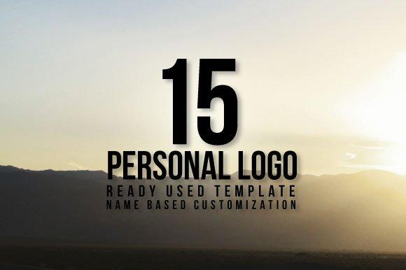15 Personal Name Based Logo Template Templates Creative Market