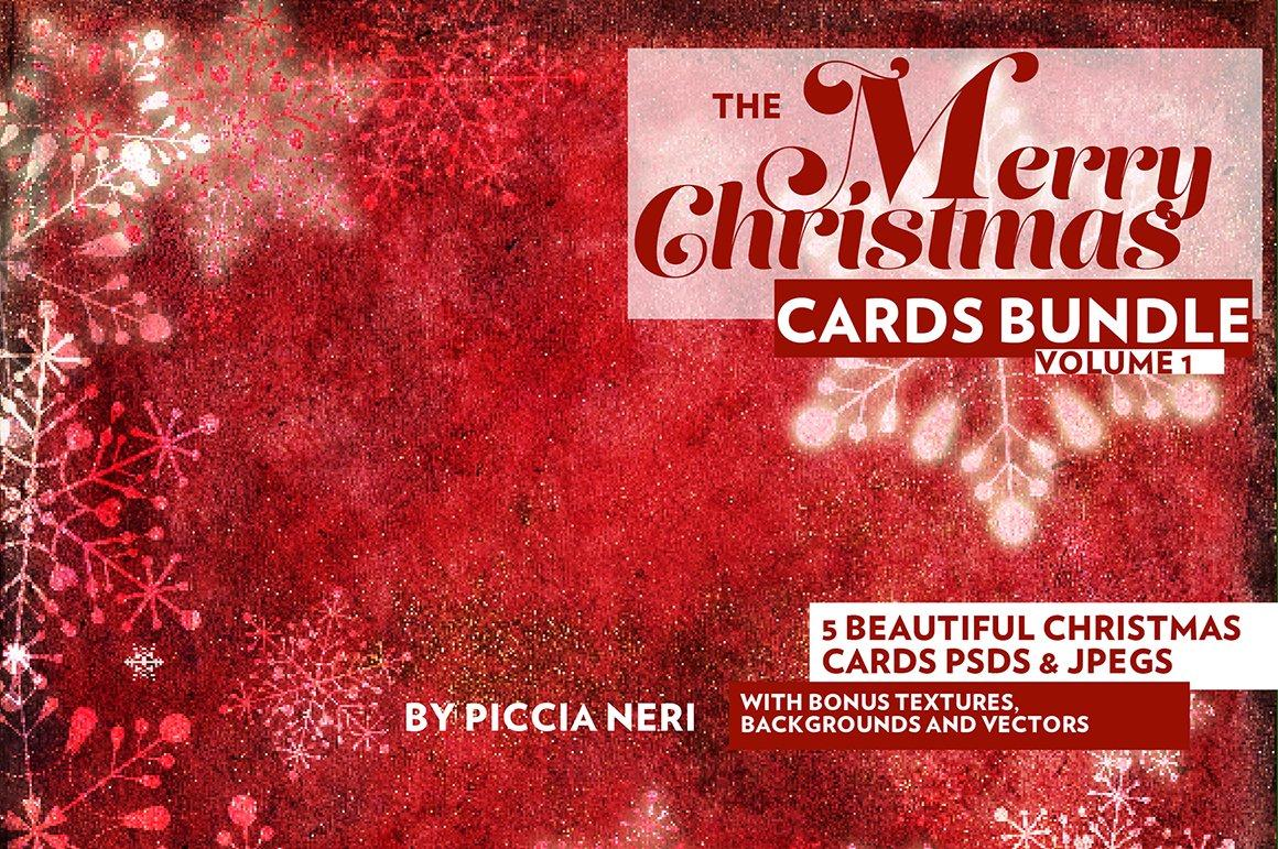 The Merry Christmas Cards Bundle ~ Card Templates ~ Creative Market