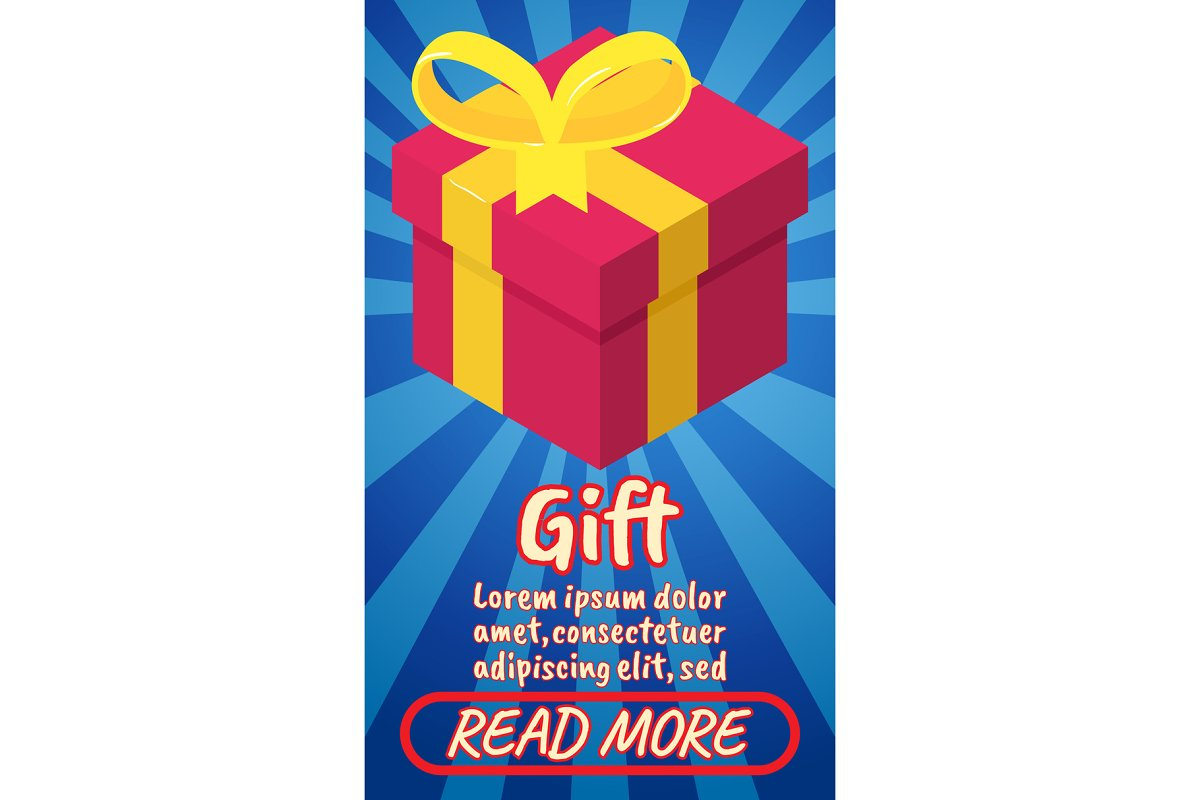 Gift concept banner