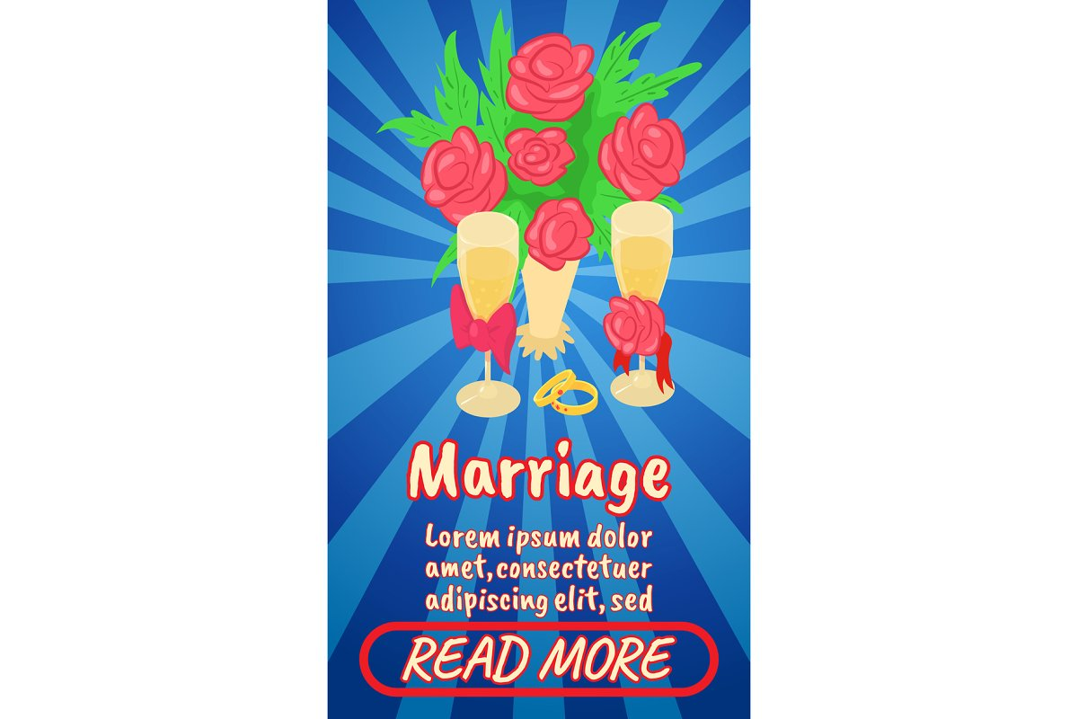 Marriage concept banner