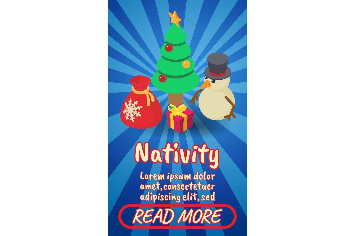 Nativity concept banner