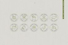 Organic food - logos and badges