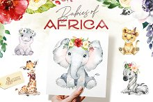 Babies of Africa. Watercolor Set
