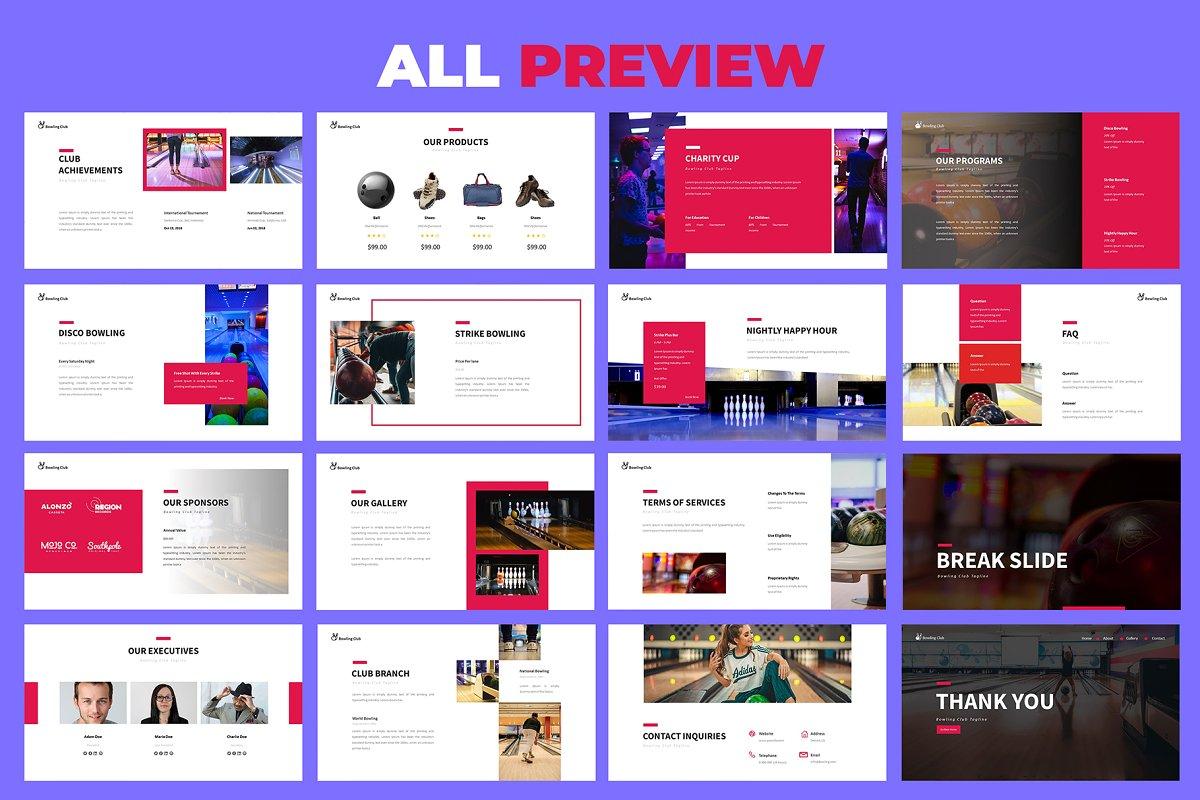 Bowling Google Slides Presentation