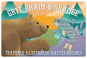 Grit, Grunge & Grain Scatter Brushes