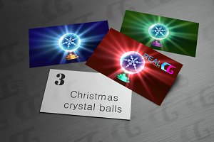 Christmas Snowflake in crystal ball