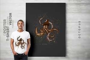 Octopus-TShirt and Poster Design