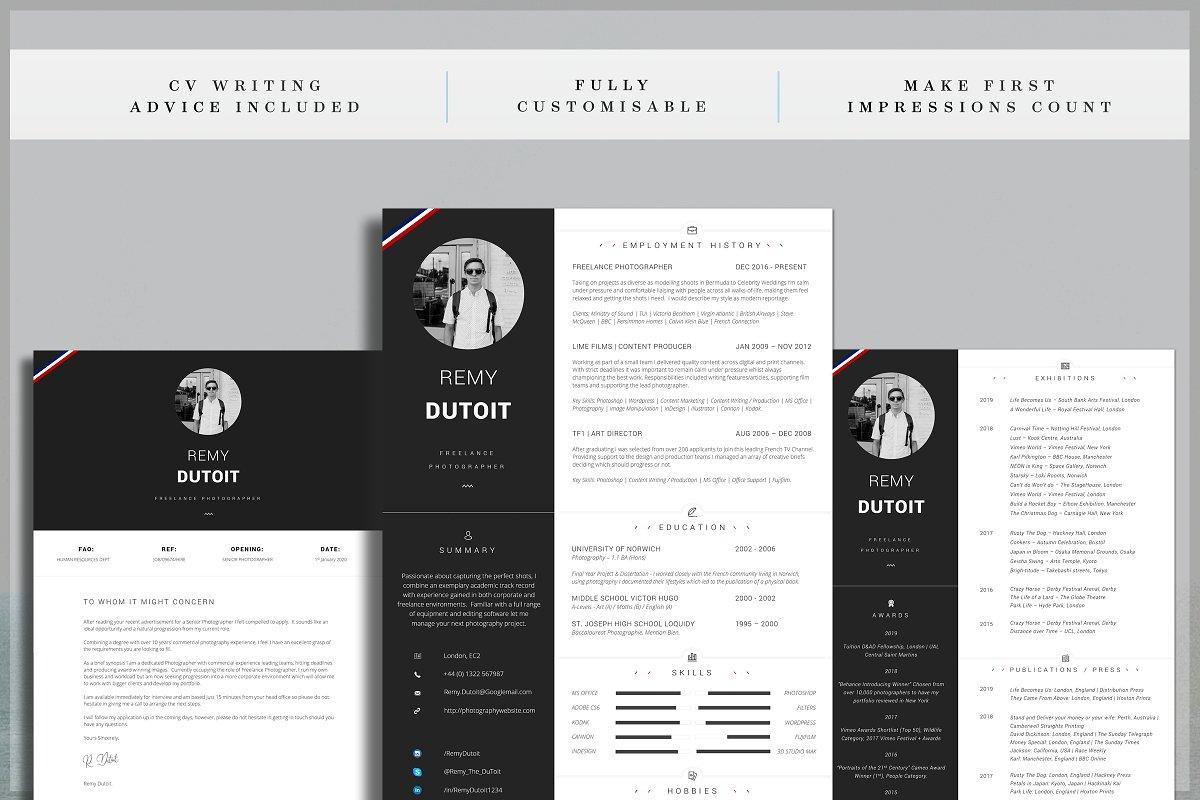 Portfolio Resume / Photographer CV