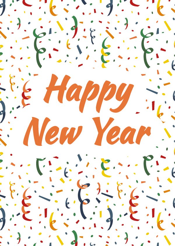 happy new year card cover illustrations creative market