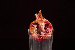 Pomegranate in a glass