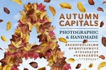 Autumn Capitals - A leaf image font