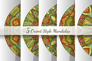 Orient Mandalas Vector Collection