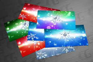 bokeh Christmas Snowflake background