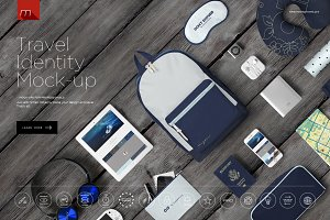 Travel Tourist Identity Mock-up