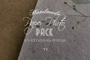 Handmade Paper Photo Pack V4