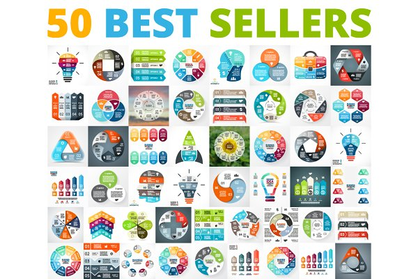 50 Infographics Best Sellers