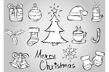 Merry Christmas vector set (icons).