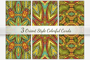 Orient Cards Vector Collection
