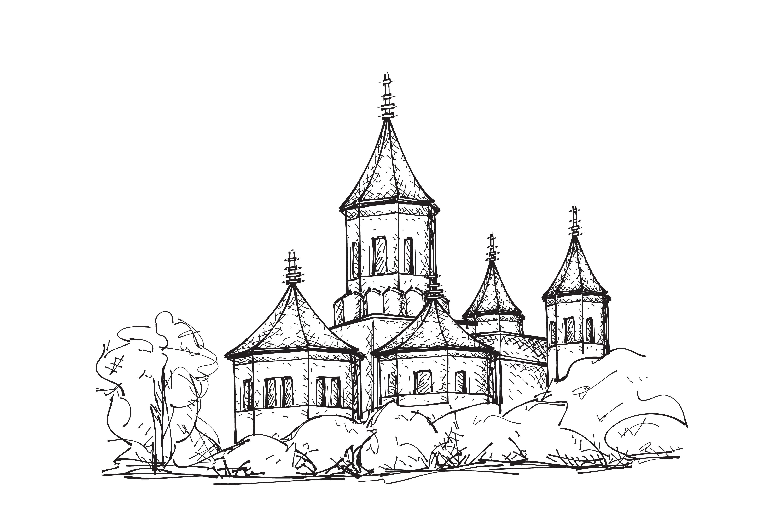 Hand drawn Church ~ Illustrations ~ Creative Market
