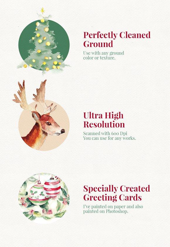 christmas paintings bonus illustrations creative market