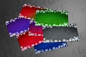Snowflakes backgrounds of board
