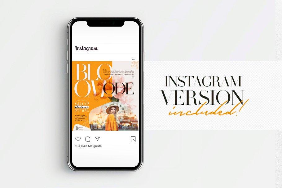 Bloom Mode Flyer + Instagram Post