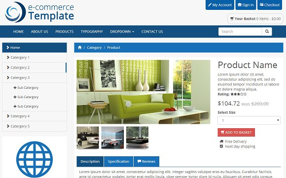 Bootstrap Ecommerce Template Bootstrap Themes Creative Market