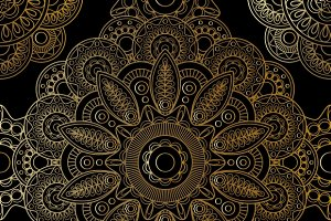 Gold mandala pattern