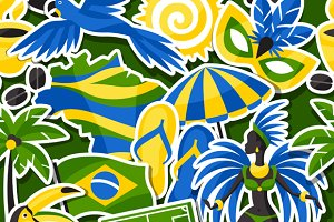 Brazil seamless patterns.