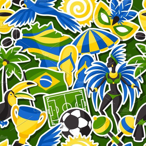 Brazil seamless patterns.