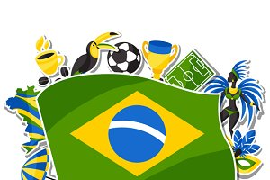 Brazil backgrounds with stickers.