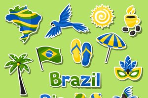Collection of Brazil sticker objects