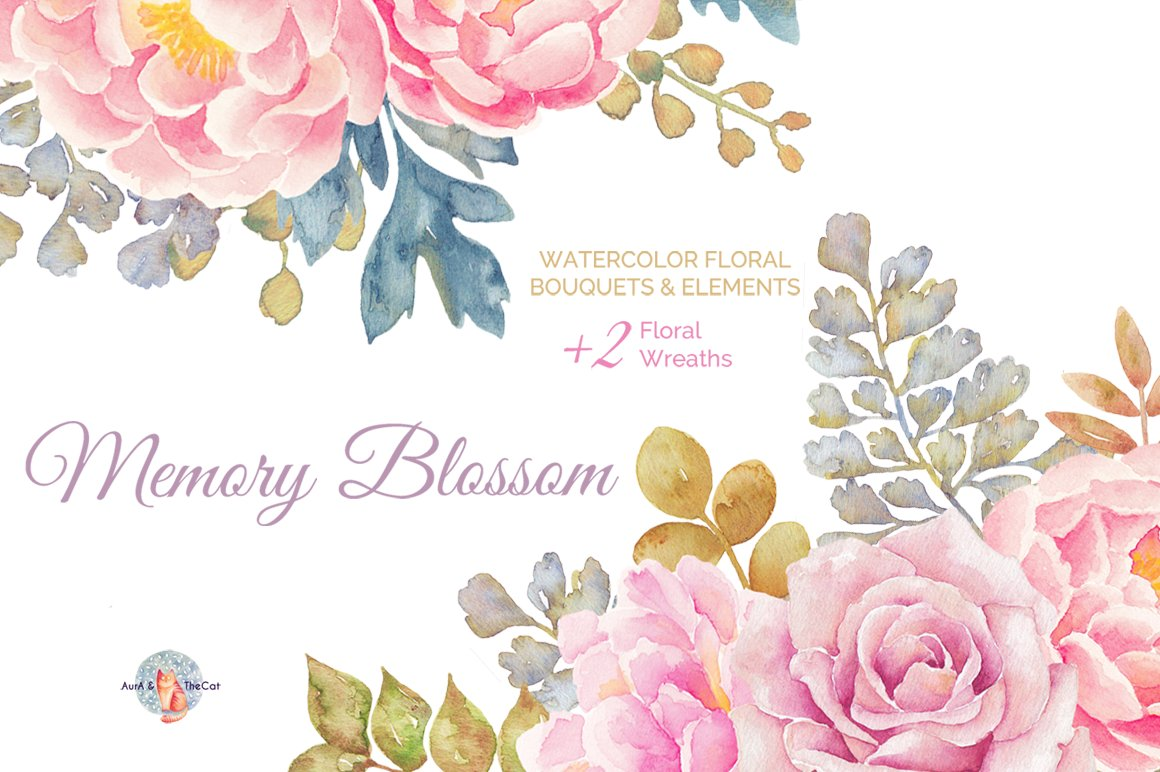 Watercolor flowers png clipart illustrations on creative market - Watercolor Flowers Png Clipart Illustrations On Creative Market 16