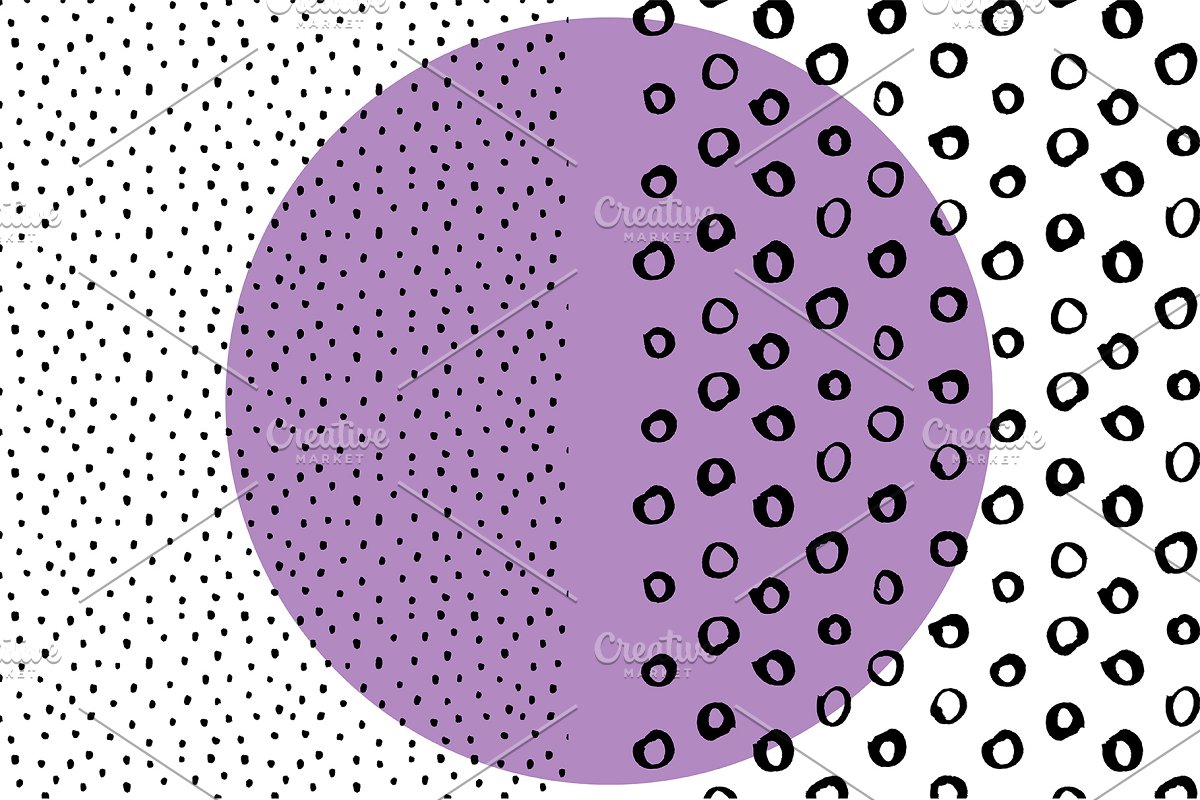 Speckle Dot Brush Abstract Patterns