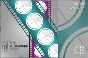Minimal Cinema Film Isolated Vector