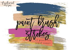 gold foil paint brush strokes