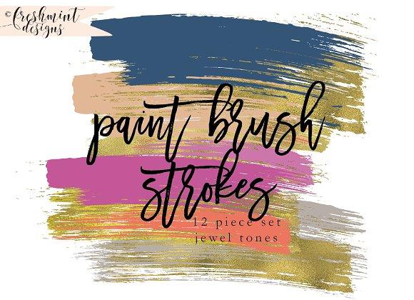 gold foil paint brush strokes