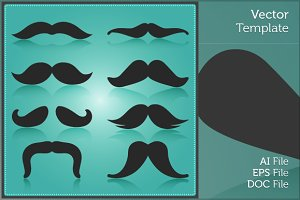 Movember Moustache Isolated Vector