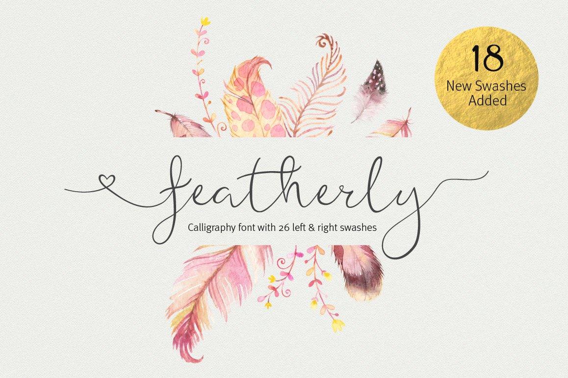 Featherly Font Wedding Font Script Fonts Creative Market