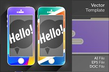 Mobile Device Flat Vector Smartphone