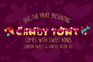 Candy - Vector Cartoon Font