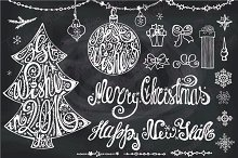Christmas tree lettering.Best wishes