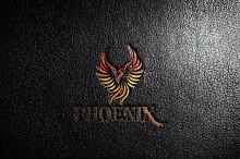 Colorful Phoenix Bird Logo Template