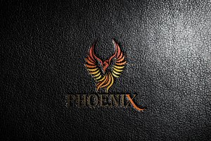 Colorful Phoenix Bird Logo Template