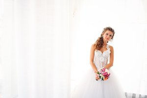 Stylish luxury gorgeous bride