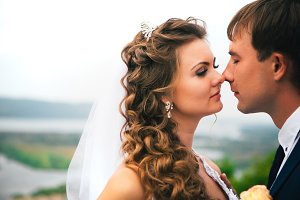 beautiful  young couple posing