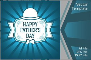Happy Father Day Ornament Gift Card